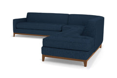 Monroe Drive 3pc Sectional Sofa :: Leg Finish: Pecan / Configuration: RAF - Chaise on the Right