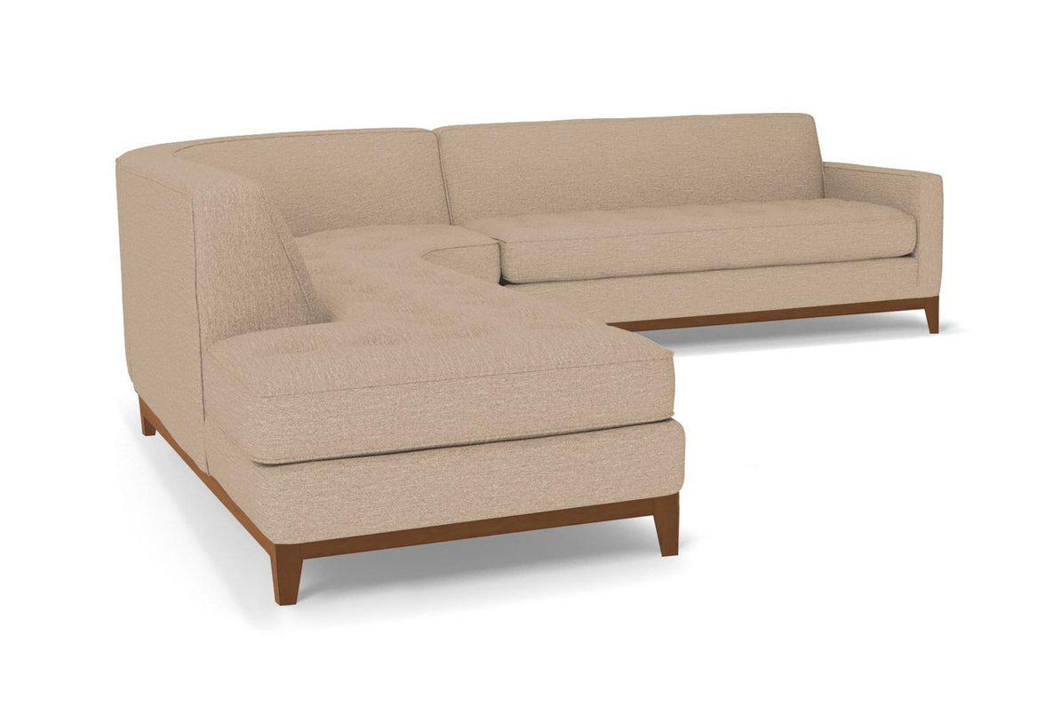 Monroe Drive 3pc Sectional Sofa :: Leg Finish: Pecan / Configuration: LAF -  Chaise on the Left