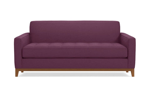 Monroe Drive Apartment Size Sleeper Sofa :: Leg Finish: Pecan / Sleeper Option: Memory Foam Mattress