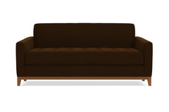 Monroe Drive Apartment Size Sleeper Sofa :: Leg Finish: Pecan / Sleeper Option: Deluxe Innerspring Mattress