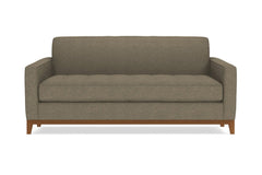 Monroe Drive Twin Size Sleeper Sofa :: Leg Finish: Pecan / Sleeper Option: Deluxe Innerspring Mattress