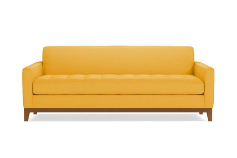Monroe Drive Queen Size Sleeper Sofa :: Leg Finish: Pecan / Sleeper Option: Memory Foam Mattress