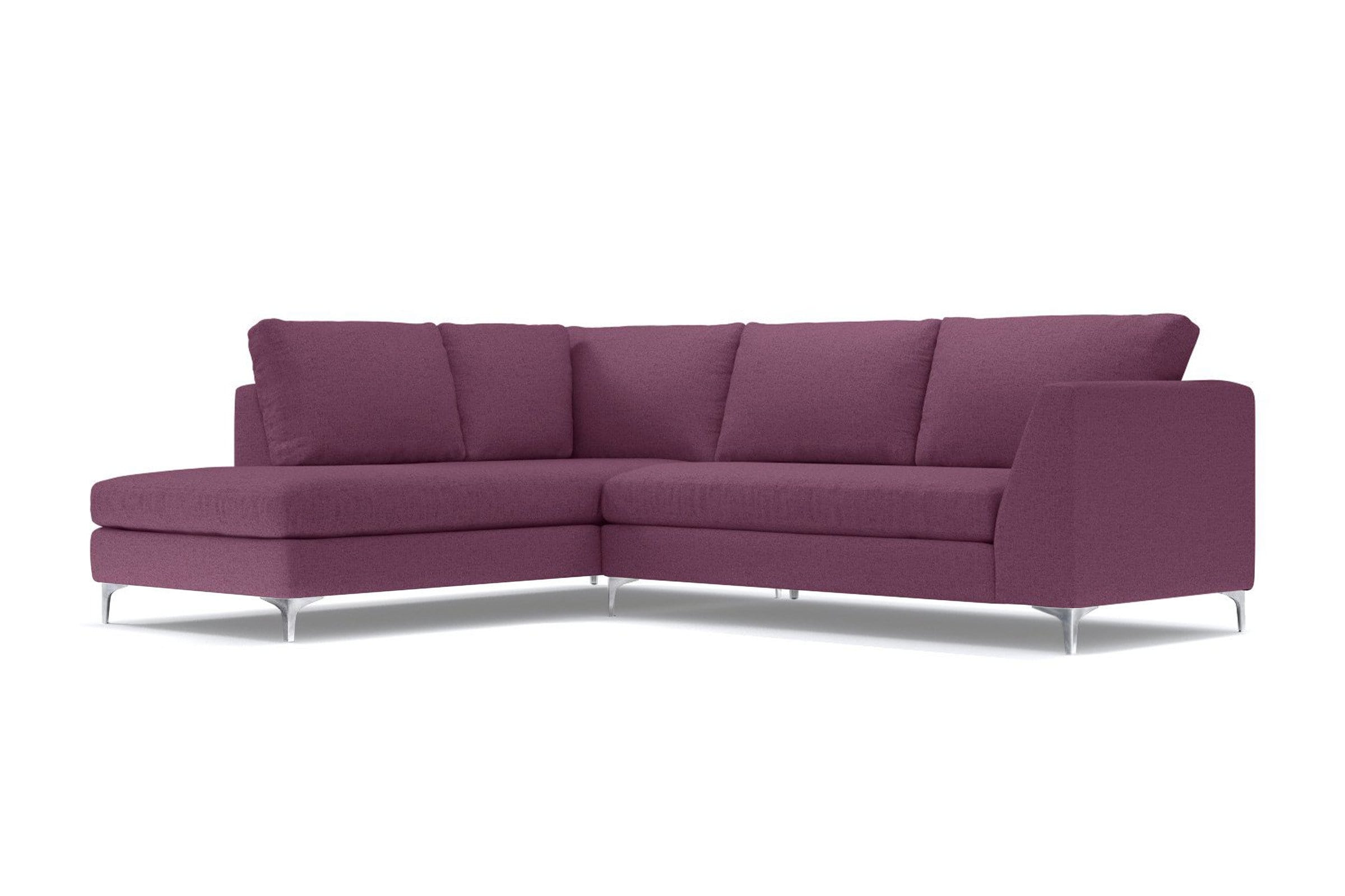 Mulholland 2pc Sectional Sofa - Purple - Modern Sectional Sofa Made in USA - Sold by Apt2B