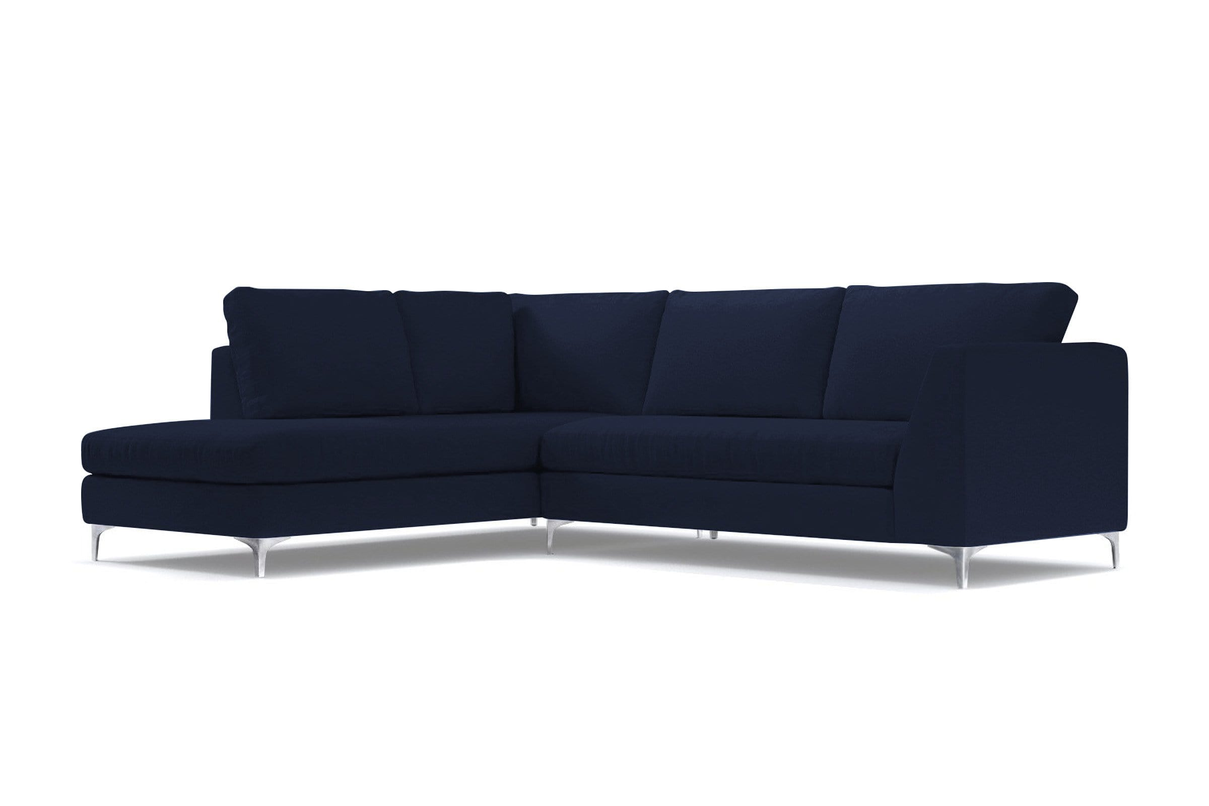 Mulholland 2pc Sectional Sofa - Dark Blue Velvet - Modern Sectional Sofa Made in USA - Sold by Apt2B