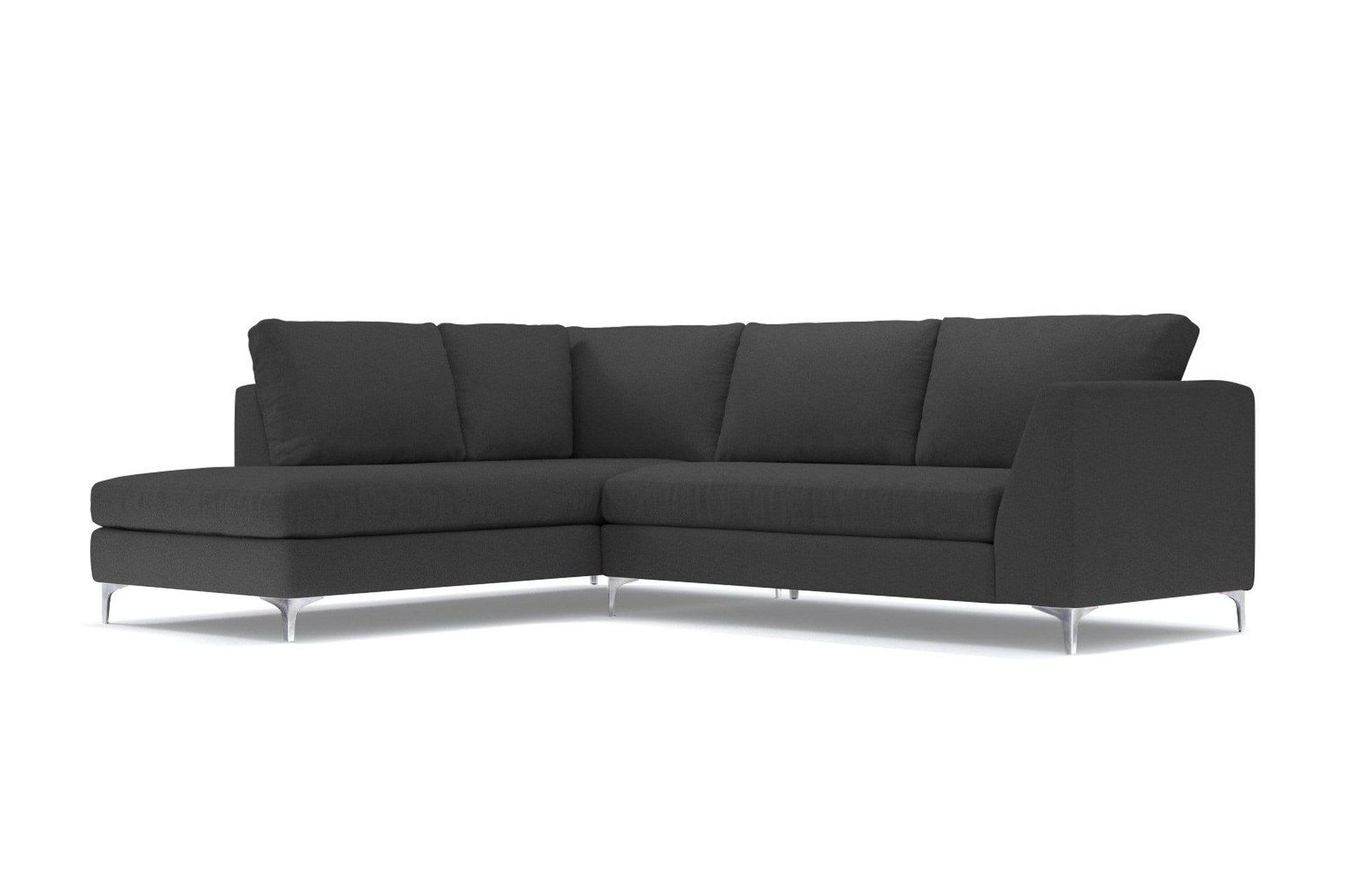 Mulholland 2pc Sectional Sofa - Gray - Modern Sectional Sofa Made in USA - Sold by Apt2B