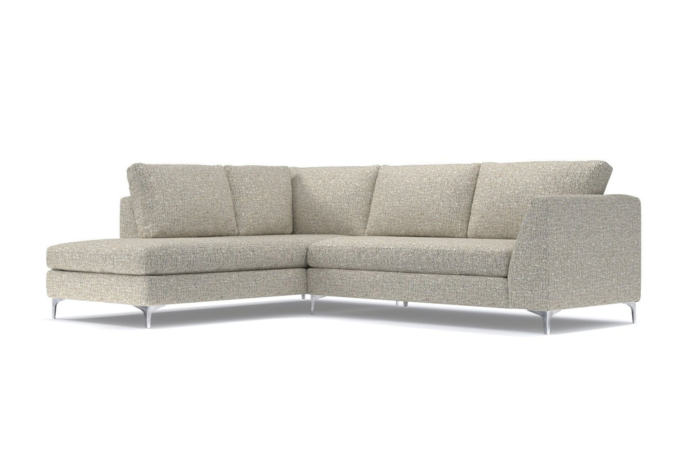 Mulholland 2pc Sectional Sofa - Beige - Modern Sectional Sofa Made in USA - Sold by Apt2B
