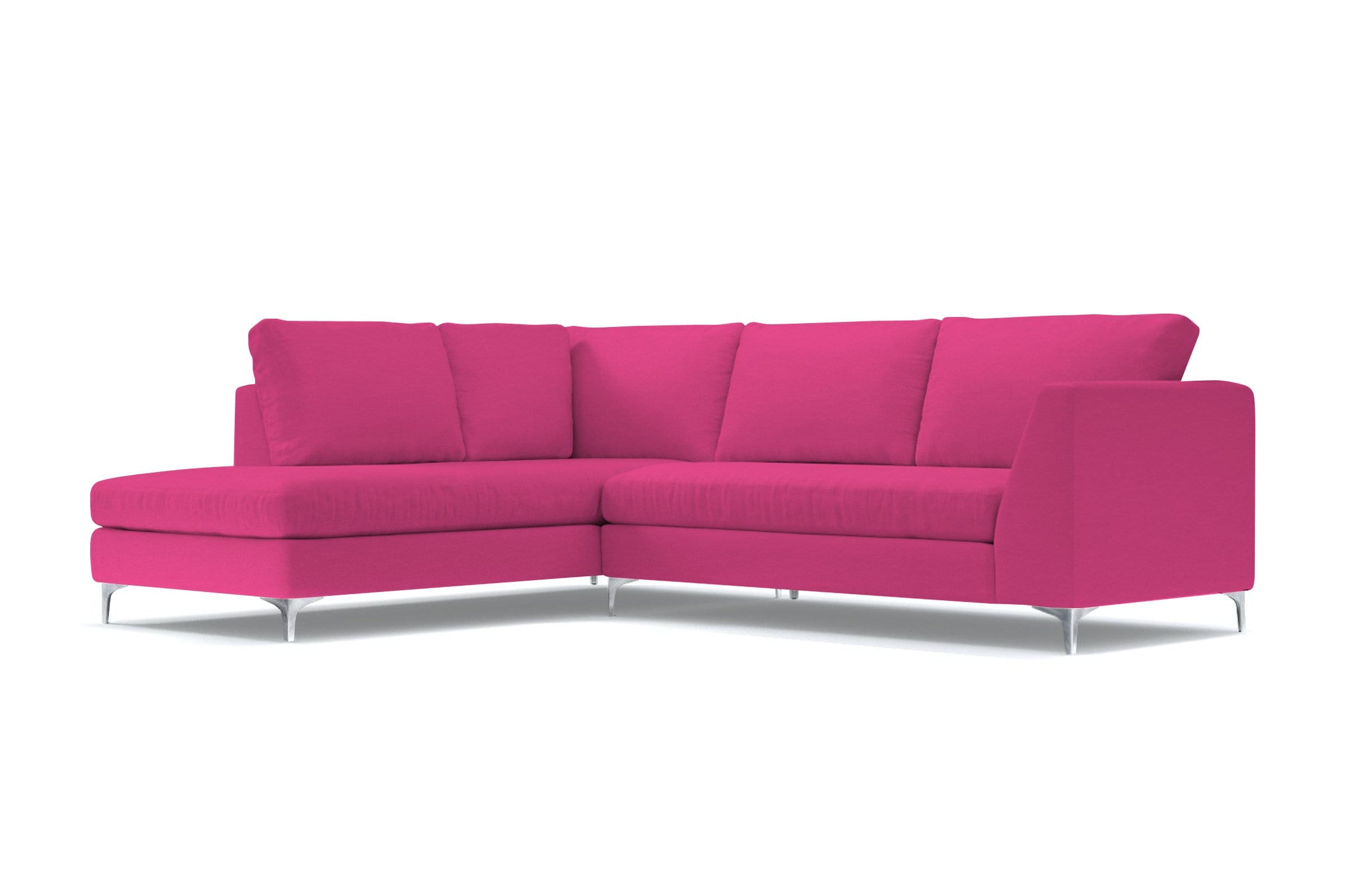 Mulholland 2pc Sectional Sofa - Pink - Modern Sectional Sofa Made in USA - Sold by Apt2B