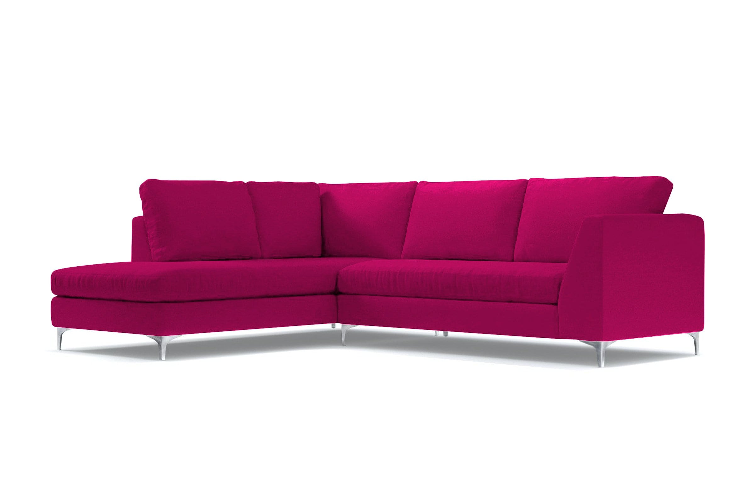 Mulholland 2pc Sectional Sofa - Pink Velvet - Modern Sectional Sofa Made in USA - Sold by Apt2B