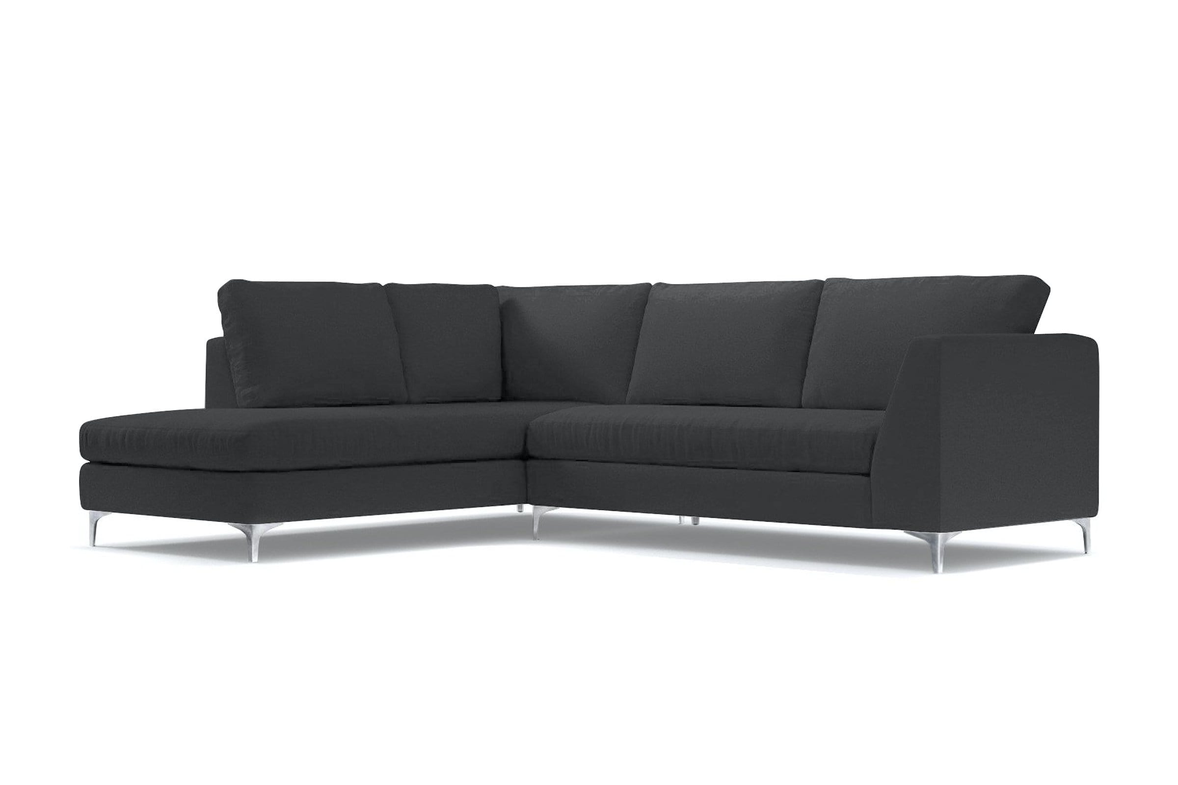 Mulholland 2pc Sectional Sofa - Grey Velvet - Modern Sectional Sofa Made in USA - Sold by Apt2B
