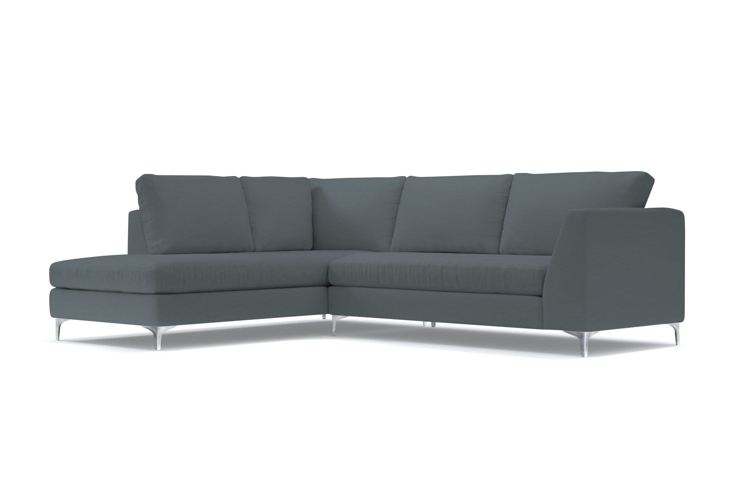 Mulholland 2pc Sectional Sofa - Blue - Modern Sectional Sofa Made in USA - Sold by Apt2B