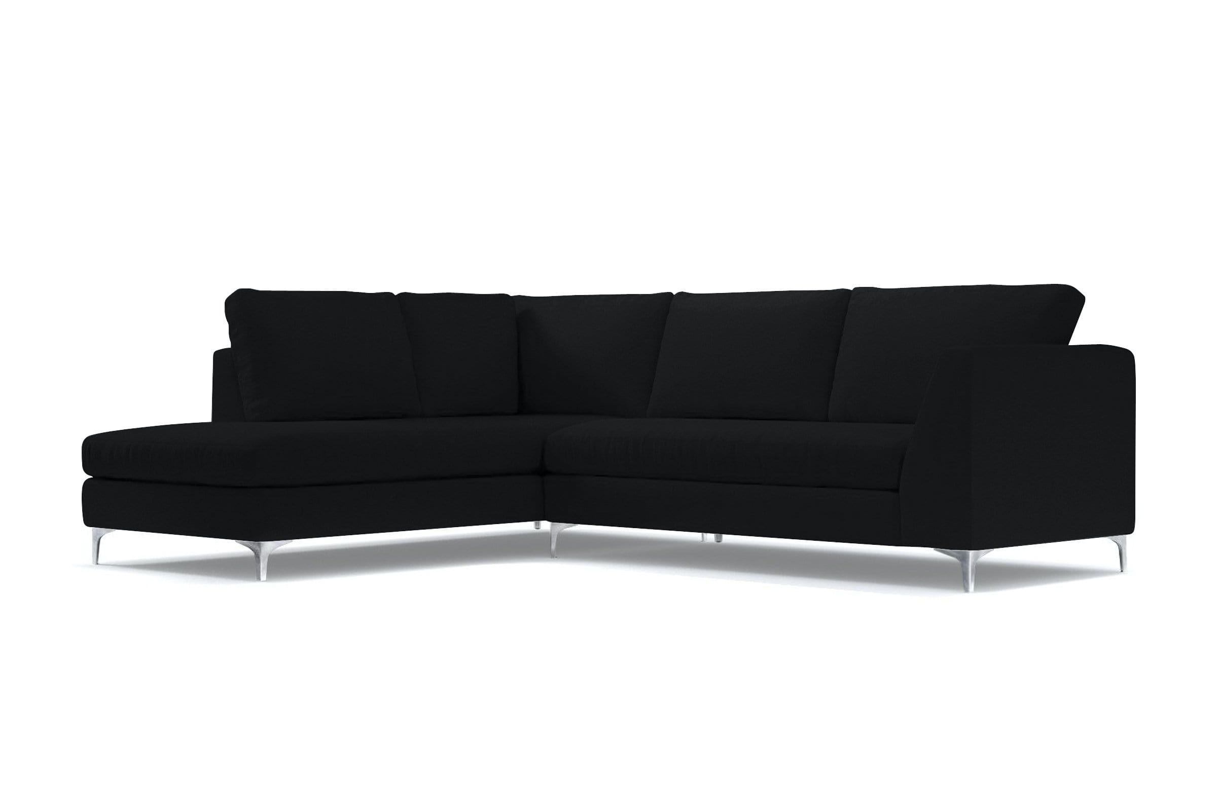 Mulholland 2pc Sectional Sofa - Black Velvet - Modern Sectional Sofa Made in USA - Sold by Apt2B