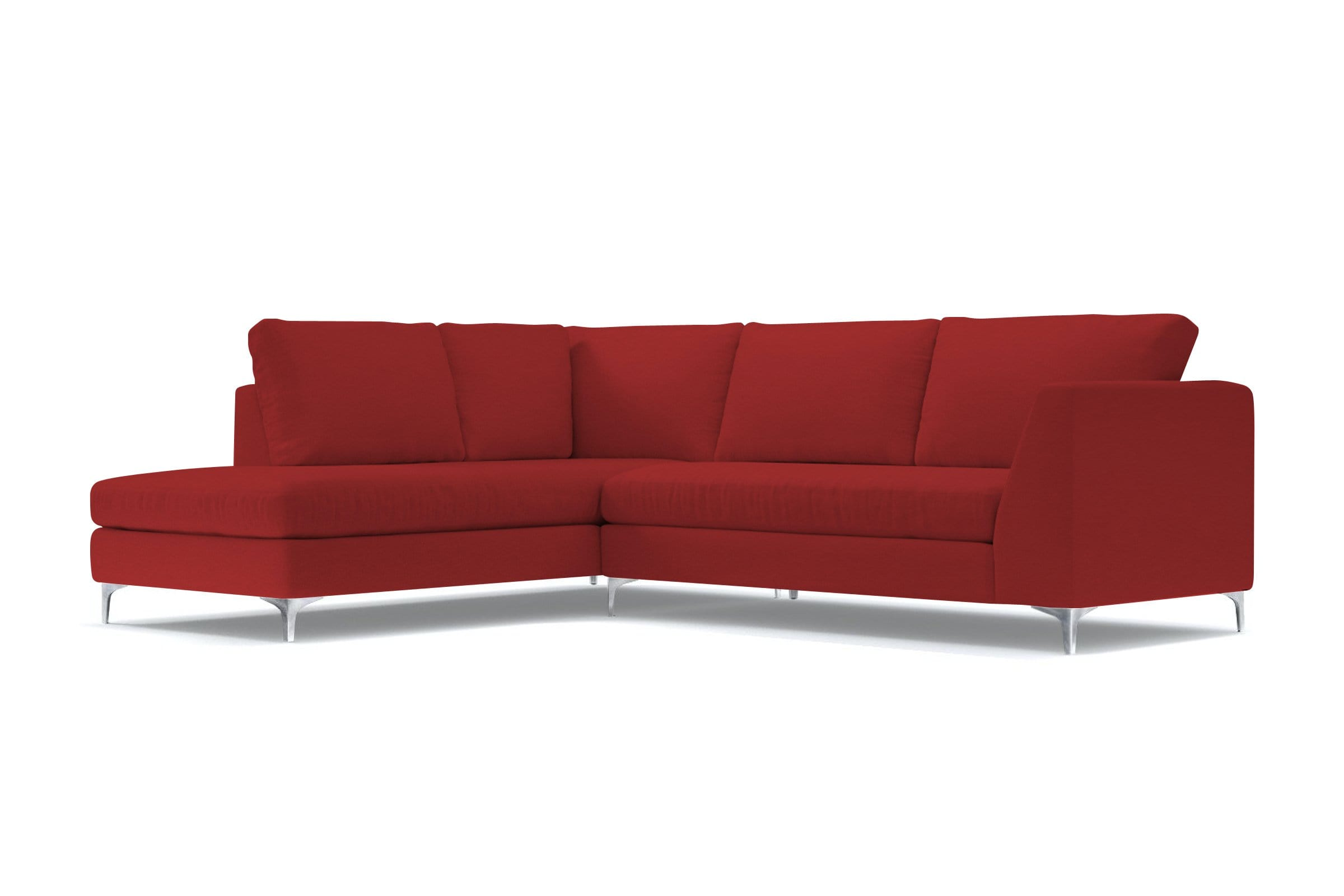 Mulholland 2pc Sectional Sofa - Red - Modern Sectional Sofa Made in USA - Sold by Apt2B