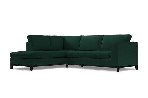Mulholland Drive 2pc Sectional Sofa :: Leg Finish: Espresso / Configuration: LAF - Chaise on the Left