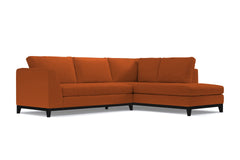 Mulholland Drive 2pc Sectional Sofa :: Leg Finish: Espresso / Configuration: RAF - Chaise on the Right