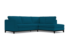Mulholland Drive 2pc Sleeper Sectional :: Leg Finish: Espresso / Configuration: RAF - Chaise on the Right / Sleeper Option: Deluxe Innerspring Mattress