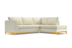 Mulholland Drive 2pc Sleeper Sectional :: Leg Finish: Natural / Configuration: RAF - Chaise on the Right / Sleeper Option: Deluxe Innerspring Mattress