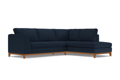 Mulholland Drive 2pc Sectional Sofa :: Leg Finish: Pecan / Configuration: RAF - Chaise on the Right