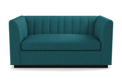 Nora Twin Size Sleeper Sofa From Kyle Schuneman :: Leg Finish: Espresso / Sleeper Option:  Deluxe Innerspring Mattress