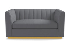 Nora Apartment Size Sleeper Sofa From Kyle Schuneman :: Leg Finish: Natural / Sleeper Option:  Deluxe Innerspring Mattress