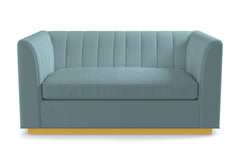 Nora Twin Size Sleeper Sofa From Kyle Schuneman :: Leg Finish: Natural / Sleeper Option: Memory Foam Mattress
