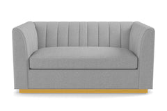"Nora Loveseat From Kyle Schuneman :: Leg Finish: Natural / Size: Loveseat - 62""w"