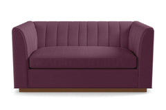 Nora Apartment Size Sleeper Sofa :: Leg Finish: Pecan / Sleeper Option: Memory Foam Mattress