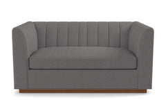 "Nora Apartment Size Sofa :: Leg Finish: Pecan / Size: Apartment Size - 74""w"