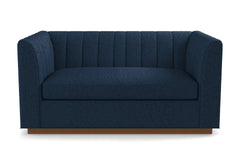 Nora Apartment Size Sleeper Sofa From Kyle Schuneman :: Leg Finish: Pecan / Sleeper Option:  Deluxe Innerspring Mattress