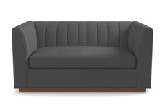 Nora Apartment Size Sleeper Sofa From Kyle Schuneman :: Leg Finish: Pecan / Sleeper Option: Memory Foam Mattress