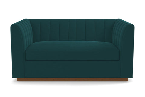 Nora Twin Size Sleeper Sofa :: Leg Finish: Pecan / Sleeper Option: Deluxe Innerspring Mattress