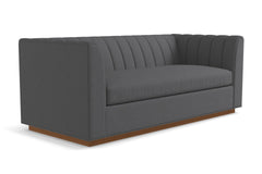 Nora Queen Size Sleeper Sofa From Kyle Schuneman :: Leg Finish: Pecan / Sleeper Option: Deluxe Innerspring Mattress