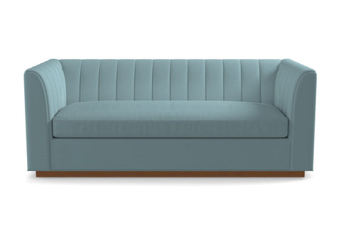 Nora Queen Size Sleeper Sofa :: Leg Finish: Pecan / Sleeper Option: Deluxe Innerspring Mattress