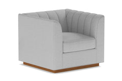Nora Swivel Chair :: Leg Finish: Pecan