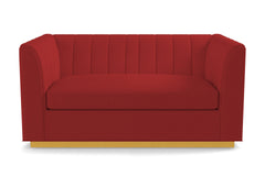 Nora Apartment Size Sleeper Sofa :: Leg Finish: Natural / Sleeper Option: Memory Foam Mattress