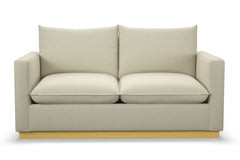 Olivia Twin Size Sleeper Sofa :: Leg Finish: Natural / Sleeper Option: Deluxe Innerspring Mattress