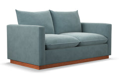 "Olivia Apartment Size Sofa :: Leg Finish: Pecan / Size: Apartment Size - 71""w"