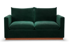 "Olivia Loveseat :: Leg Finish: Pecan / Size: Loveseat - 63""w"