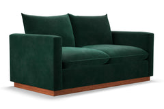 Olivia Apartment Size Sleeper Sofa :: Leg Finish: Pecan / Sleeper Option: Deluxe Innerspring Mattress