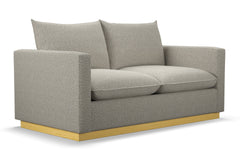 Olivia Apartment Size Sleeper Sofa :: Leg Finish: Natural / Sleeper Option: Deluxe Innerspring Mattress