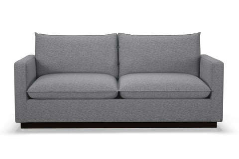 Olivia Queen Size Sleeper Sofa :: Leg Finish: Espresso / Sleeper Option: Deluxe Innerspring Mattress