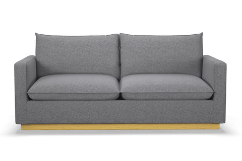 Olivia Queen Size Sleeper Sofa :: Leg Finish: Natural / Sleeper Option: Memory Foam Mattress