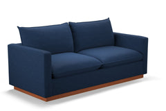 Olivia Queen Size Sleeper Sofa :: Leg Finish: Pecan / Sleeper Option: Deluxe Innerspring Mattress