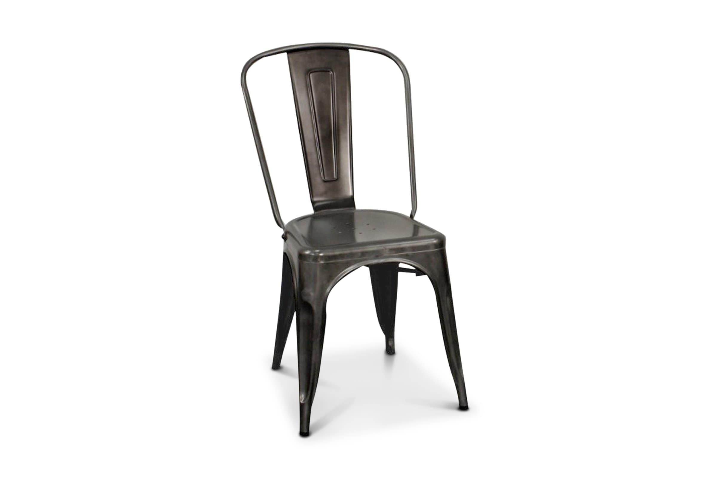 Oxford Metal Chair GUNMETAL - SET OF 4 - - Accent Chair - Furniture sold by Apt2B