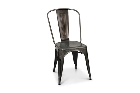 Oxford Metal Chair- Set of 4 GUNMETAL - Apt2B
