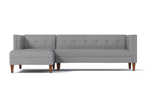 Pacific 2pc Sectional Sofa :: Leg Finish: Pecan / Configuration: LAF - Chaise on the Left