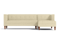 Pacific 2pc Sectional Sofa :: Leg Finish: Pecan / Configuration: RAF - Chaise on the Right