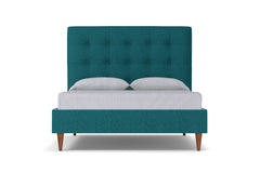 Palmer Drive Upholstered Bed :: Leg Finish: Pecan / Size: Full