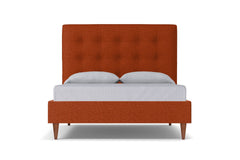 Palmer Drive Upholstered Bed :: Leg Finish: Pecan / Size: Queen