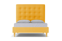 Palmer Upholstered Bed :: Leg Finish: Natural / Size: Full Size