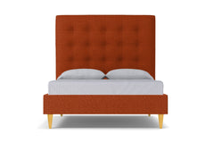 Palmer Upholstered Bed :: Leg Finish: Natural / Size: Queen Size